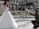 Bộ ảnh cưới giữa chiến tranh đổ nát ở Syria gây tranh cãi