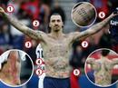 Giải mã 64 hình xăm bí ẩn trên người Ibrahimovic