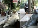 """Mèo ú """"bất hủ"""" ở Istanbul được tạc tượng"""