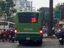 CLIP xe buýt chạy bạt mạng trên vỉa hè ở TP HCM