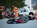 TP HCM: Xe con tông 8 xe máy, ít nhất 5 người bị thương