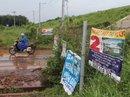 """""""Tuồn đất"""" quanh sân bay Long Thành"""