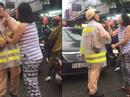 Trao đổi giữa phóng viên và người phụ nữ thóa mạ CSGT