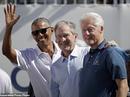 Ba cựu tổng thống Obama, Bush và Clinton gây sốt tại Presidents Cup