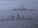 Tàu khu trục Anh kèm sát tàu chiến Nga