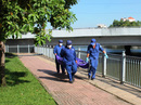 Phát hoảng khi thấy thi thể phụ nữ gần cầu Điện Biên Phủ