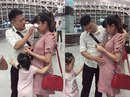 Vợ bầu 7 tháng tiễn chồng đi XKLĐ khiến nhiều người bật khóc