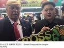 """Donald Trump và Kim Jong-un """"giả"""" gặp nhau ở Hồng Kông"""