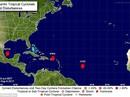 Ba cơn bão đồng loạt hoành hành ở Đại Tây Dương