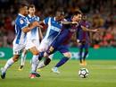 Messi lập hat-trick, Barcelona thắng đậm Espanyol