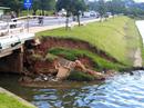 Bờ kè hồ Xuân Hương Đà Lạt sạt lở nguy hiểm