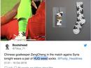 """""""Quảng cáo"""" cần sa, thủ môn tuyển Trung Quốc mang hoạ"""