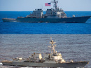 Hai tàu chiến Mỹ đi qua eo biển Đài Loan