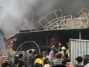 Sau tiếng nổ, kho chứa hàng ghế xuất khẩu bị lửa thiêu rụi
