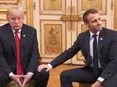 Giải mã phản ứng của ông Trump khi ông Macron vỗ đầu gối