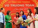 50 nhà giáo nhận giải thưởng Võ Trường Toản năm 2018