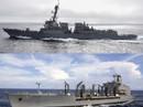 Tàu chiến Mỹ tăng tần suất qua eo biển Đài Loan