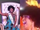 Vừa đăng quang, tân Hoa hậu Châu Phi... cháy tóc