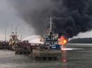Bộ trưởng Công an đến hiện trường vụ cháy tàu xăng dầu ở Hải Phòng