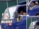 Bé trai lái xe tải chạy băng băng trên phố Sầm Sơn
