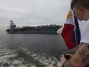 Siêu tàu sân bay Mỹ tới nơi Trung Quốc quân sự hóa các đảo nhân tạo