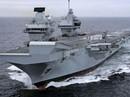 """Tàu chiến """"khủng"""" của Anh tới Mỹ tập trận với siêu chiến đấu cơ"""