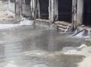 Nước thải đen ngòm lại tuôn ra biển Đà Nẵng lúc trời đang mưa