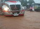 Mưa lớn: Đèo Mẹ bồng con kẹt cứng, thị xã Phú Mỹ ngập nặng