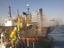 Tàu cá Hàn Quốc bốc cháy, hai thuyền viên người Việt gặp nạn