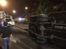 Lật xe khách trong hầm Hải Vân, khiến 5 người nhập viện