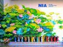 """Check-in với tranh sen """"siêu đại"""" tại sân bay Nội Bài"""