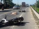 Xe máy va chạm với xe container, nữ du khách nước ngoài tử vong