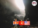 Rực rỡ quốc kỳ Việt Nam - Mỹ - Triều Tiên tại hang động lớn nhất thế giới