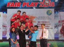 Nhiều tuyển thủ Việt Nam giành giải thưởng Fair-Play 2018