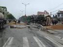 Lật xe bồn, xăng chảy lênh láng khiến giao thông trên Quốc lộ 1A tê liệt