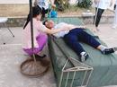 1 học sinh bị đinh cắm vào đầu khi nhảy cao trong giờ học thể dục
