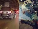 Xác minh xe biển xanh 80A tông trọng thương người chạy xe ôm rồi bỏ chạy