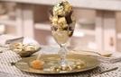 Ăn kem giá 1.000 USD bằng thìa vàng, đựng trong cốc pha lê