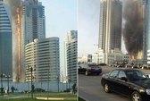 Tòa nhà cao nhất Bắc Caucasus chìm trong lửa