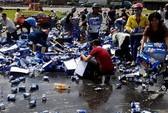 Vụ hôi bia ở Biên Hòa: Tạm giam 2 người mang xe ba gác đến chở bia