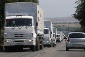Đoàn xe tải Nga xâm nhập Ukraine trở về nước