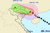 Bão Thần Sấm giật cấp 12-13 đổ bộ vào biên giới Việt-Trung