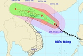 Trưa 19-7, bão Thần Sấm đổ bộ vào TP biên giới Móng Cái