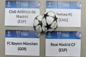 Bốc thăm bán kết Champions League: Real gặp Bayern, Chelsea đối đầu Atletico