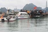 Đắm tàu du lịch có 12 khách nước ngoài trên Vịnh Hạ Long
