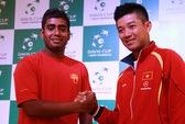 Tranh vé trụ hạng Davis Cup: Minh Quân thắng trận, Hoàng Thiên mắc mưa!