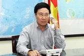 Phó Thủ tướng Phạm Bình Minh điện đàm với Ngoại trưởng Trung Quốc