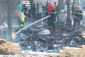 Cháy lớn tại xưởng chế biến gỗ