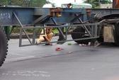Tan nát cả gia đình vì bị nạn dưới bánh xe container