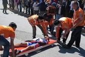 Cuộc đua xe đạp HTV 2014: Cua-rơ của Đồng Tháp bị gãy tay, dập cột sống